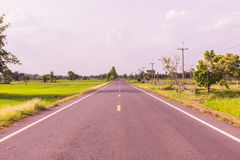 Local road at Northeast of Thailand Stock Image