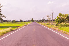 Local road at Northeast of Thailand Royalty Free Stock Photos