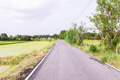 Local road at Northeast of Thailand Royalty Free Stock Images