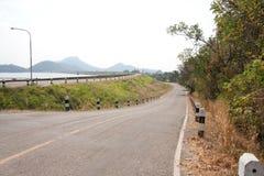 Local roads building on top wall water lake. Bangpra Chonburi Thailand Stock Images