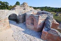 Local romano antigo Felix Romuliana fotografia de stock