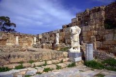 Local romano antigo nos Salamis Fotos de Stock