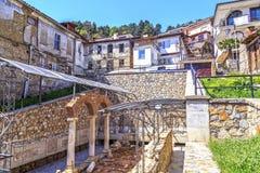 Local romano archeologic antigo em Ohrid fotografia de stock royalty free