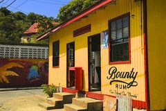 Local Rum shop in St Lucia, Caribbean Royalty Free Stock Photos