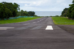 Local runway by the beach Royalty Free Stock Photography