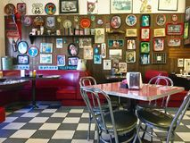 Local 50`s Diner Stock Images