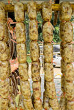 Local Sausage Food Preservation in Northern East of Thailand Stock Image