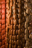Local Sausages. For sale in a local wet market Royalty Free Stock Photos