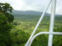 Mystic Mountain bobsled tour in Ocho Rios Jamaica, an excursion on a Caribbean cruise stock image
