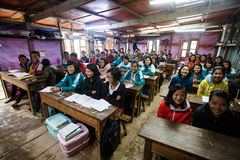 Local School in Chin State, Myanmar Royalty Free Stock Photos