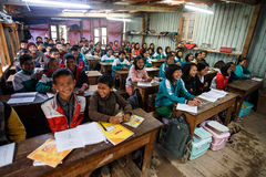 Local School in Chin State, Myanmar Stock Images