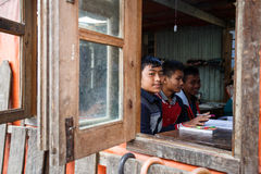 Local School in Chin State, Myanmar Stock Photography