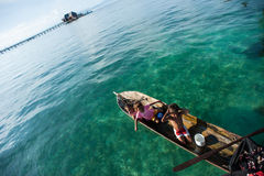 A local sea gypsy kid Stock Images