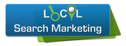 Local Search Marketing Blue Green Horizontal Royalty Free Stock Photography