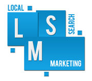 Local Search Marketing Blue Squares Text Stock Photography