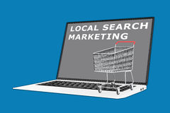 Local Search Marketing concept Stock Image