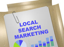 Local Search Marketing concept Royalty Free Stock Photos