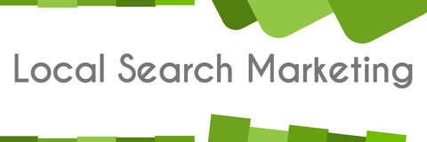 Local Search Marketing Green Abstract Background Royalty Free Stock Photography