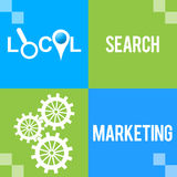 Local Search Marketing Green Blue Four Blocks Royalty Free Stock Photo