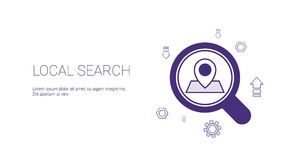 Local Search Web Banner With Copy Space Seo Marketing Strategy Concept Royalty Free Stock Images
