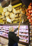 Local shop with Bologna's delicasse , Bologna, Italy13 March 20 Stock Images