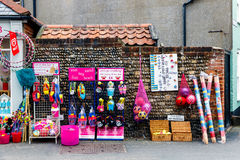 Local Shop in Southwold. Southwold, UK - August 14, 2016 - Local shop selling sweet, beach goods and toys Stock Images