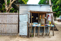 Local shop standf shop in Mozambique, Africa Stock Images