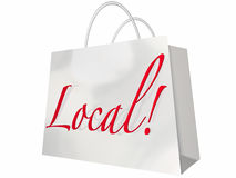 Local Shopping Bag Royalty Free Stock Photo