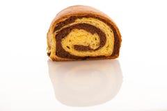 Local slovenian dessert sweet potica with wallnuts and raisins Royalty Free Stock Photos