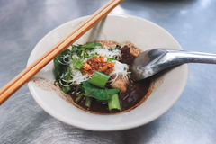Local small bowl of noodle. Royalty Free Stock Photography