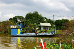 The local small ferry in suburb Thailand. Royalty Free Stock Photography