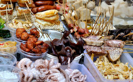 Local snack selling on street, China Stock Image