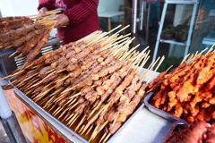 Grilled street food in Asia Stock Images