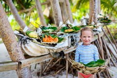 Local south pacific food Stock Images