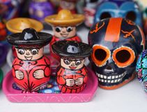 Local souvenirs on display at beach market in Playa Del Carmen, Mexico Royalty Free Stock Photography