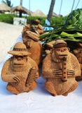 Local Souvenirs made from coconut in Punta Cana, Dominican Republic Stock Photography