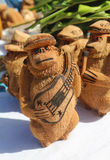 Local Souvenirs made from coconut in Punta Cana, Dominican Republic Royalty Free Stock Images