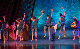 """Local specialty gift-Dance drama """"The Dream of Maritime Silk Road"""". Dance drama """"The Dream of Maritime Silk Road"""" centers on the plot of two generations Royalty Free Stock Image"""
