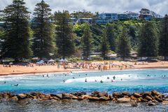 Local sport challenge at Avoca Beach, Australia Royalty Free Stock Photo