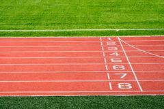 Local stadium and running track Royalty Free Stock Images