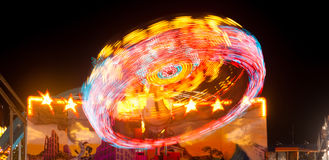 Local State Fair Carnival Ride Long Exposure Royalty Free Stock Image