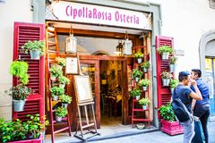 Local steak restaurant in Florence. Italy Royalty Free Stock Photography