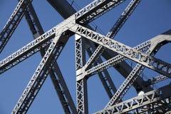 Local steel bridge. Brisbane City local steel bridge royalty free stock photo