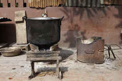 Local stove kitchen outdoor Stock Photo