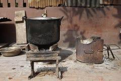 Local stove kitchen outdoor Stock Photo