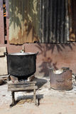 Local stove kitchen outdoor vertical Stock Photo