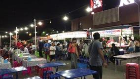 Local Street Food Plaza inside Area of Meechok Plaza. CHIANG MAI, THAILAND -APRIL 19  2017: Local Street Food Plaza inside Area of Meechok Plaza. Location on stock footage