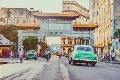 Local street in La Habana royalty free stock photo