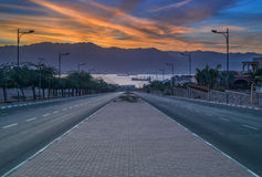 Local street running at the Red Sea Stock Photography