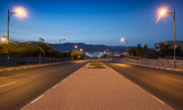 Local street running to the Red Sea, Eilat Royalty Free Stock Image